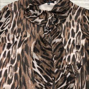 Jones New York Tops - Animal Print Jones Wear Blouse
